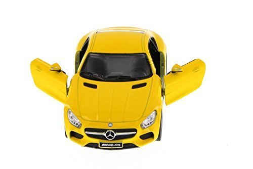 (Kinsmart Mercedes-Benz AMG GT, Yellow 5388D - 1/36 Scale Diecast Model Toy Car)