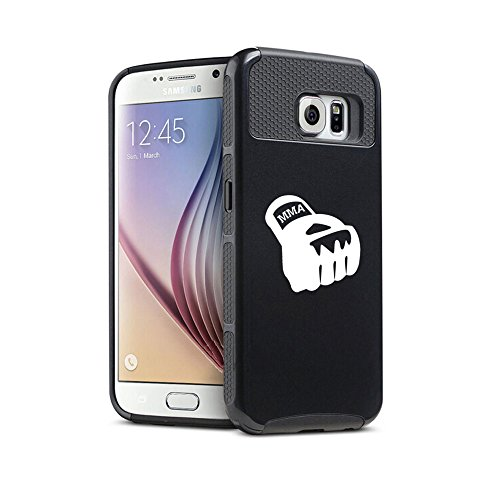 For Samsung Galaxy S6 Shockproof Impact Hard Soft Case Cover MMA Boxing Glove (Black)