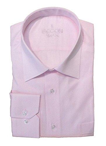 Herrenhemd lang, normale Armlänge, rosa, Wallstreet-Kragen