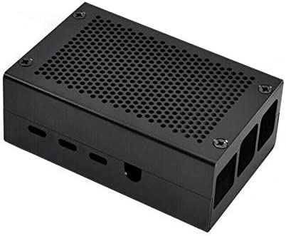 Enclosure Protective Box Aluminum Alloy Case Cooling Fan Fit For Raspberry Pi 4
