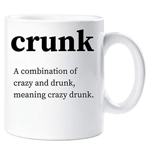 Crunk Mug Urban Dictionary Definition Funny Novelty Ceramic Cup Gift Friend