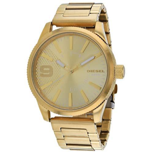 (Diesel Men's Rasp Analog-Quartz Watch with Stainless-Steel Strap, Gold, 24 (Model: DZ1761)