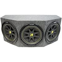 ASC Package Triple 12 Kicker Sub Box Sealed Rearfire Subwoofer Enclosure C12 Comp 900 Watts Peak