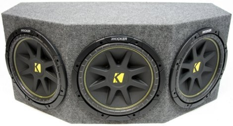 ASC Package Triple 12″ Kicker Sub Box Sealed Rearfire Subwoofer Enclosure C12 Comp 900 Watts Peak