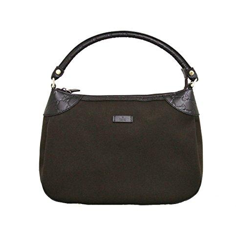 Gucci Brown Canvas Hobo Shoulder Bag Guccissima Leather Handbag (Gucci Hobo Purse)