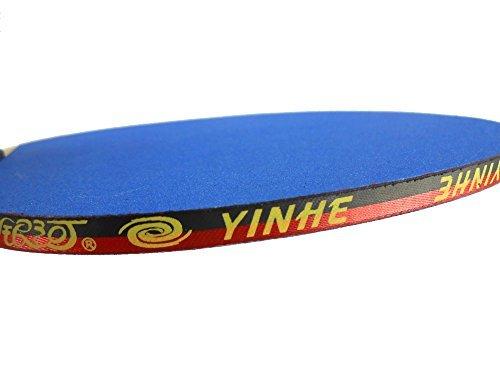 YINHE  Galaxy Emery Paper Racket EP-100 Sandpaper Table Tennis Ping Pong Paddle Long Handle (Shakehand)-FL