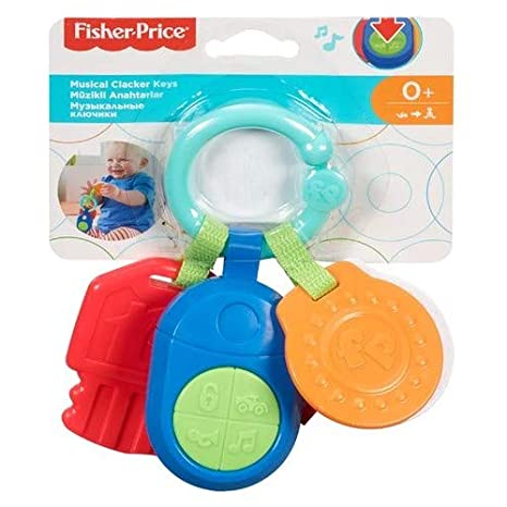 Fisher-Price Llavero Musical Clic-Clac, Juguetes Bebés Recién Nacidos (Mattel DFP52)