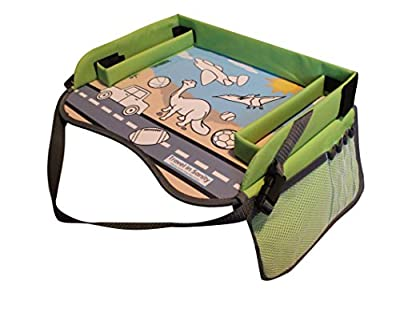 Kids Travel Tray for Car Seat | Perfect for Road Trip Games, Drawing Games or Travel Toys | Use as Car Seat Tray or Kids Lap Desk | Padded Sturdy Surface & Side Walls by Travel in Sanity