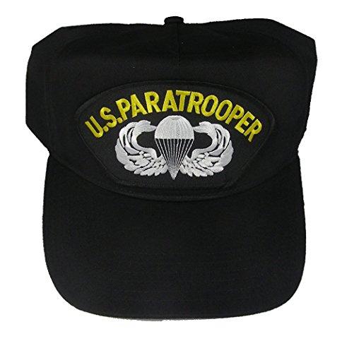 Jump Wings Hat (U.S. PARATROOPER WITH JUMP WINGS VETERAN HAT - BLACK - Veteran Owned)