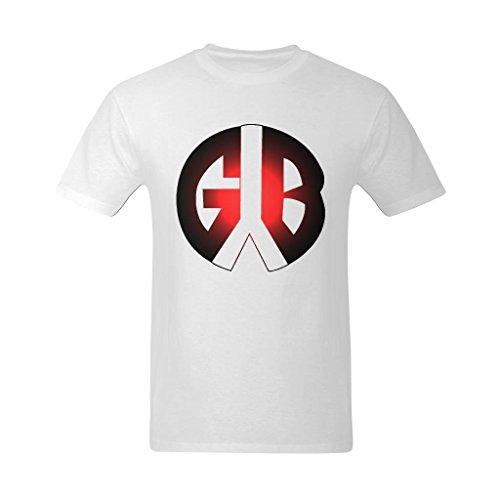 Youranli Men's GYB Red Round Logo T Shirt ()