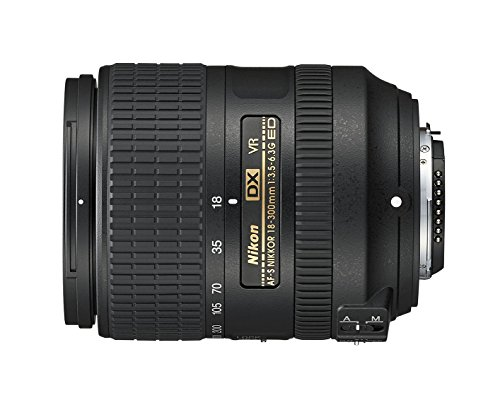 Nikon AF-S DX NIKKOR 18-300mm f/3.5-6.3G ED Vibration Reduction Zoom Lens with Auto Focus for Nikon DSLR Cameras (Best Wide Angle Lens For D7000)
