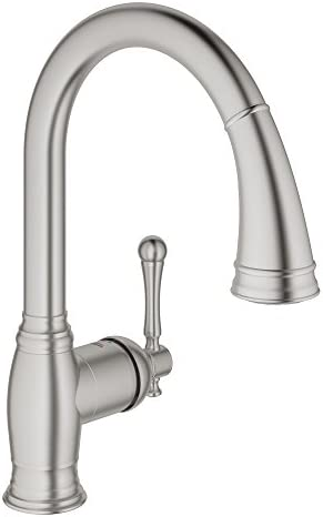 Bridgeford Single-Handle Pull-Down Kitchen Faucet with Dual Spray, SuperSteel Infinity