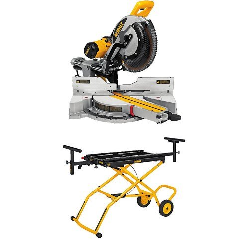 Cheapest Prices! DEWALT DWS779 12 Sliding Compound Miter Saw and DWX726 Rolling Miter Saw Stand