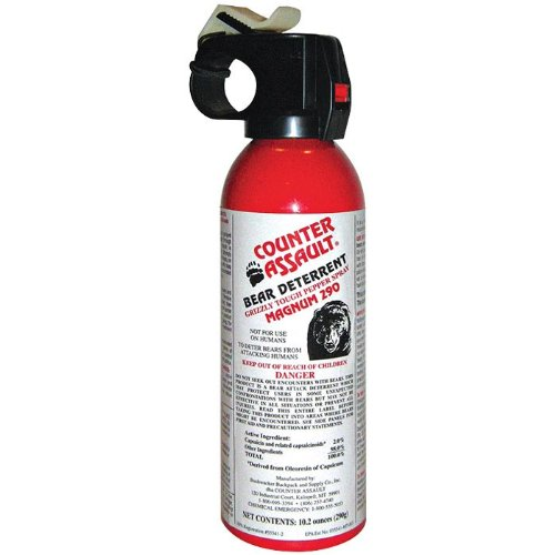 Counter Assault Bear Deterrent Pepper Spray with Holster, 10.2-Ounce