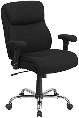 Flash Furniture HERCULES Series Big Tall 400 lb. Rated Black Fabric Ergonomic Task Office Chair