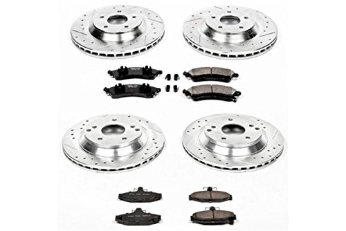 nt and Rear Z23 Evolution Brake Kit with Drilled/Slotted Rotors and Ceramic Brake Pads ()