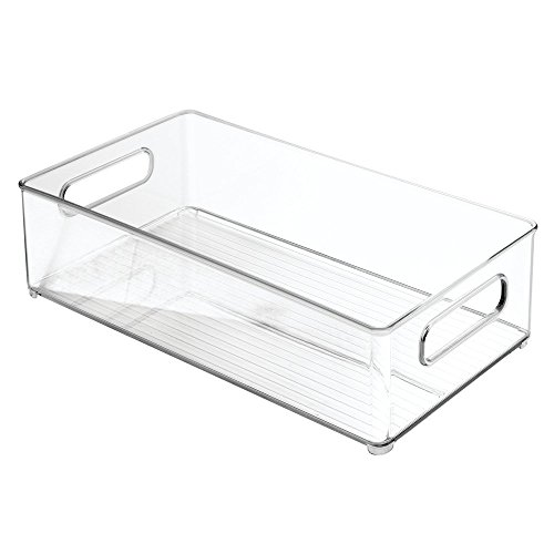 InterDesign Linus Bathroom Vanity Organizer Bin – Cabinet Storage Box for Health and Beauty Products - Clear by InterDesign