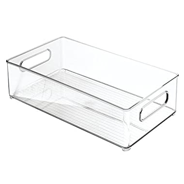 InterDesign Refrigerator and Freezer Storage Organizer Bins for Kitchen, 8  x 4  x 14.5 , Clear