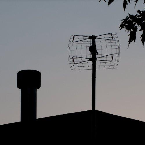 2 Element Bowtie Indoor/Outdoor HDTV Antenna - 45 Mile Range