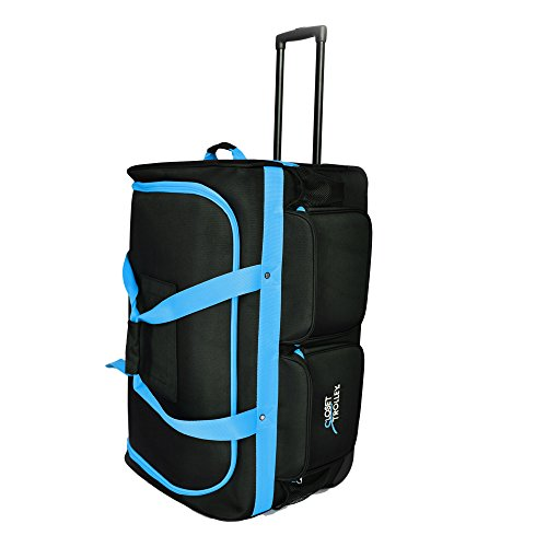 Closet Trolley Dance Bag With Garment Rack Blue Dance