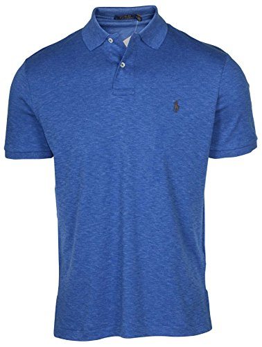 - Polo Ralph Lauren Men's Medium Fit Interlock Polo Shirt (Small, Blue Heather)