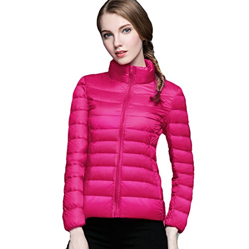 Respeedime Winter New Slim Down Coat Women Stand Collar Fashion Down Jacket ()