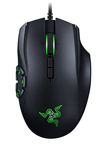 RAZER NAGA HEX V2: 7 Button Thumb Grid - 16,000 Adjustable DPI - New Ergonomic Form Factor - MOBA Gaming Mouse (Renewed)