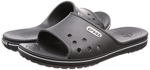 Grey Gris Crocband slate Slide white 2 Adulte Mixte Mules Crocs dRY8wvqY