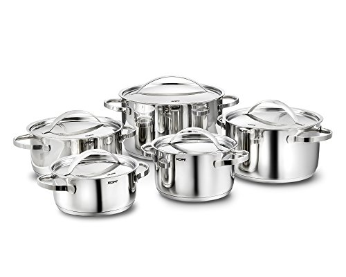 Kopf Stilo Cookware Set Suitable for Induction Hobs, Stainless Steel,...