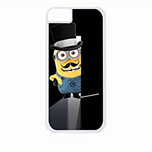 Minion Mustache Doorway - Hard White Plastic Snap - On Case-Apple Iphone 4 - 4s - Great Quality!