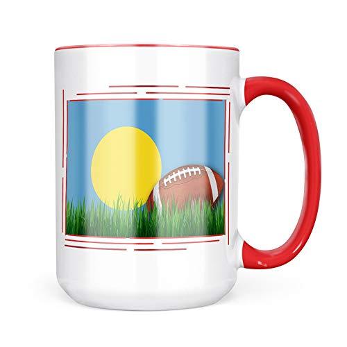 Neonblond Custom Coffee Mug Football with Flag Palau 15oz Personalized Name