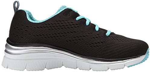 Baskets Fashion Piece Skechers Fit Femme Noir Statement Basses Noir Turquoise x4pPSqp