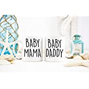 Interesting 11oz Coffee Cup-Baby Mama Mug, Baby Daddy Mug, Baby Mama and Baby Daddy Coffee Mugs, Parent Mugs, New Parent Gifts, Expectant Parents Gifts, Gift Ideas- by,NINNAYAN