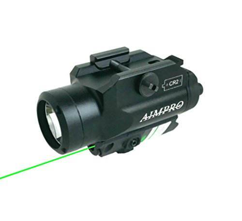AIMPRO Green Laser Sight with 220 Lumen LED Flashlight combo for Handgun or Rifle by AIMPRO