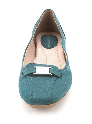 Giani Bernini Kvinna Jileese Fyrkantig Tå Loafers Påfågel