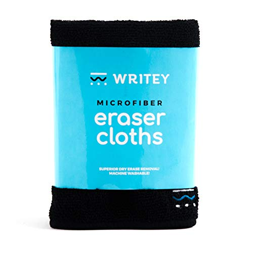 (Writeyboard Micro Fiber Dry Erase Cloths, Black, Set of)
