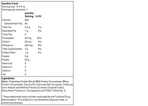 ABB Pure Pro 50 - Ready to Drink Super-High Protein Shake, Banana Cream, 12 bottles (14.5oz)