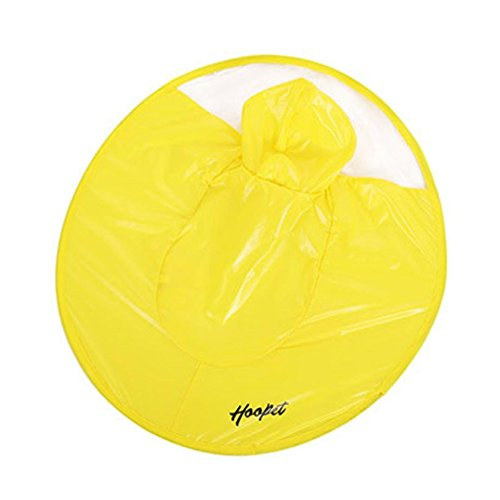 Alalaso Dog Yellow Raincoat Waterproof Cloak Umbrella All-Inclusive Pet Poncho (L)