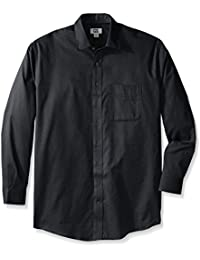 Men's Big and Tall Long Sleeve Easy Care Spread Collar Nailshead
