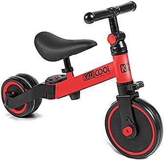 BLWX LY Bicicletas sin Pedals for niños y niñas de 2 a 5 años, Bicicleta Deslizante, Triciclo for niños con Asiento y Manillar Ajustables, 6 LB ( Color : Red )