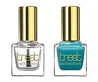 treat collection Natural Nail Polish Duo, Top and Base Coat, Mint Julep, 2 Count