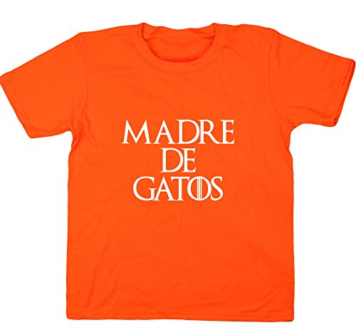 HippoWarehouse Madre de Gatos camiseta manga corta niños niñas unisex: Amazon.es: Ropa y accesorios