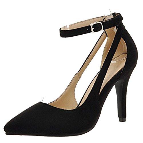 Black Cerrado Zapatos Mujer Bombas RAZAMAZA I1Raqa