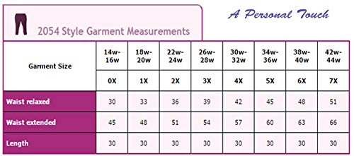 f34c25f441a A Personal Touch Women s Plus Size Slinky Elastic Waist Pull-On Dress Pant  Black at Amazon Women s Clothing store