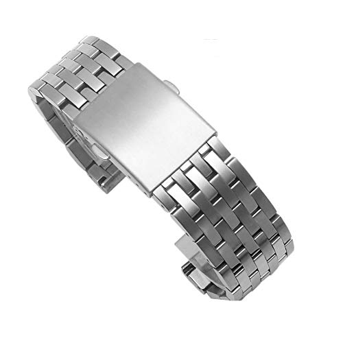 Polished Deployment Buckle - Choco&Man US Diesel Solid Mesh Stainless Steel Bracelets 24mm/26mm/28mm/30mm Watch Bands Deployment Buckle Brushed/Polished Strap for Men Women