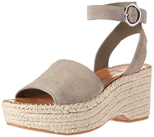915e6aedc12 Dolce Vita Women's Lesly Wedge Sandal sage Suede 9 M US