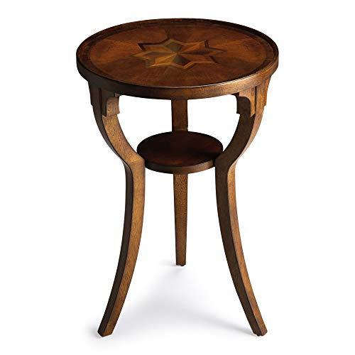 BUTLER 1328101 DALTON OLIVE ASH BURL ROUND ACCENT TABLE