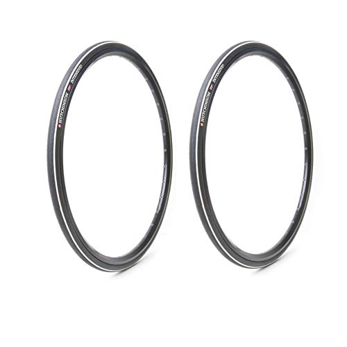 Hutchinson Intensive Tubeless Folding Road Bike Tires (2-Pack) | 700x25 | Reinforced Compound ()