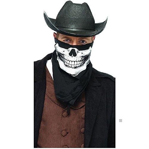Reaper Cowboy Adult Mens Costumes (Skull Bandana Adult Mens Teen Grim Cowboy Reaper Western Halloween Costume Acsry)