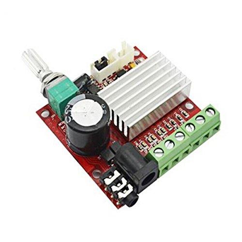 UPC 713331407003, 30W Mini High-power 2.1-channel Digital Audio Amplifier Board Red